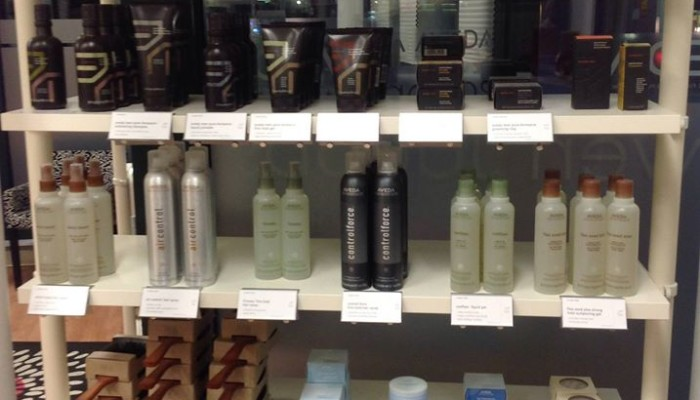 Aveda Products Shelf